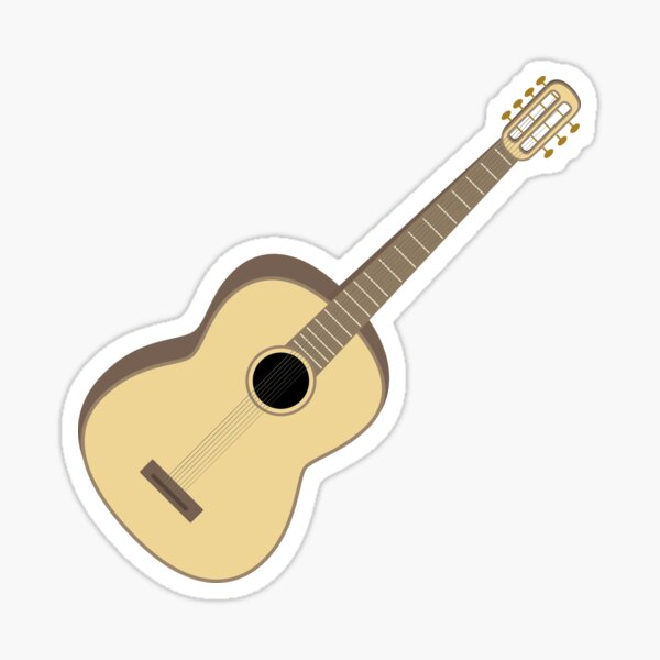 Seven-String Acoustic Guitar Sticker