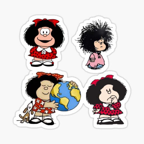 Divertidos cómics de Mafalda Quino Pegatina