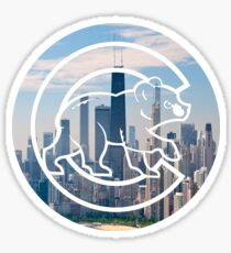Chicago Cubs Skyline Logo Sticker