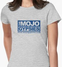 Heathered T-Shirt with Mojo Gypsies block logo in blue Women's Fitted T-Shirt