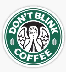 Weeping Angel of Original Starbucks Logo Sticker