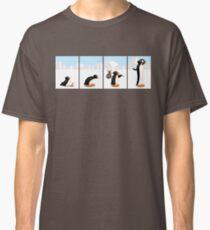 Camiseta clásica La evolución de los pingüinos