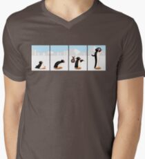 The penguin evolution Men's V-Neck T-Shirt