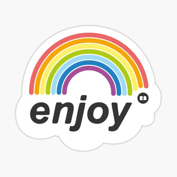 enjoyRB Rainbow Sticker