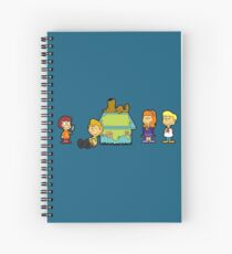 Shaggy Brown and The Scooby Crew  Spiral Notebook