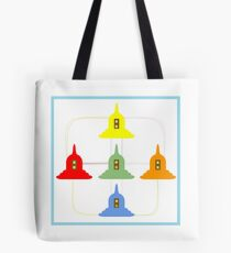 5 Buddhism Stupas Tote Bag