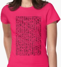 Hieroglyphics B&W Womens Fitted T-Shirt