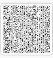 Hieroglyphics B&W Sticker