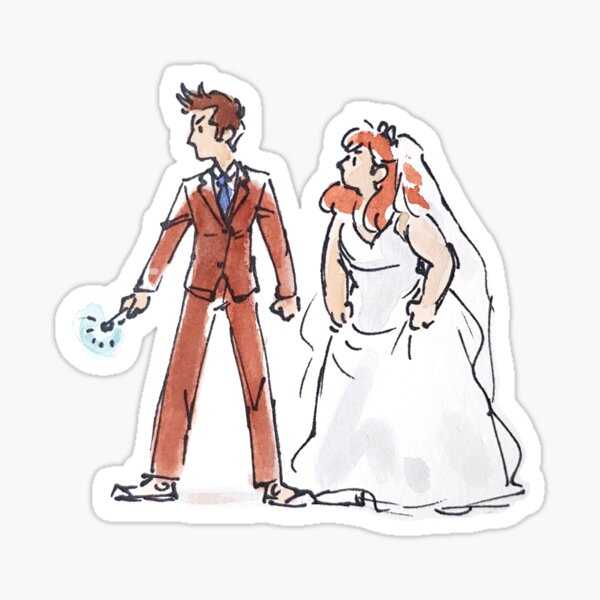 Space Boy and Earth Girl Sticker