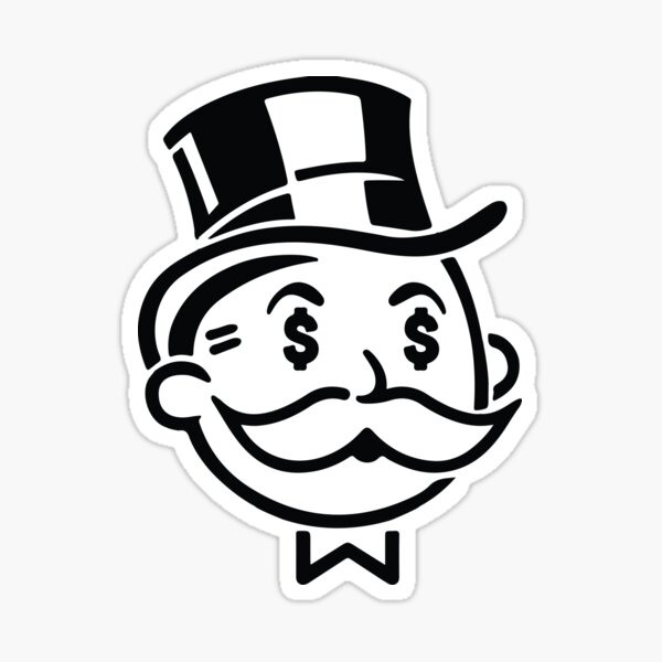 M. Monopoly Man Graffiti Art Design Money Man Sticker