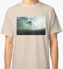 Gundam Wing above the city  Classic T-Shirt