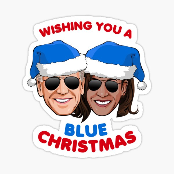 Wishing you a Blue Christmas Sticker