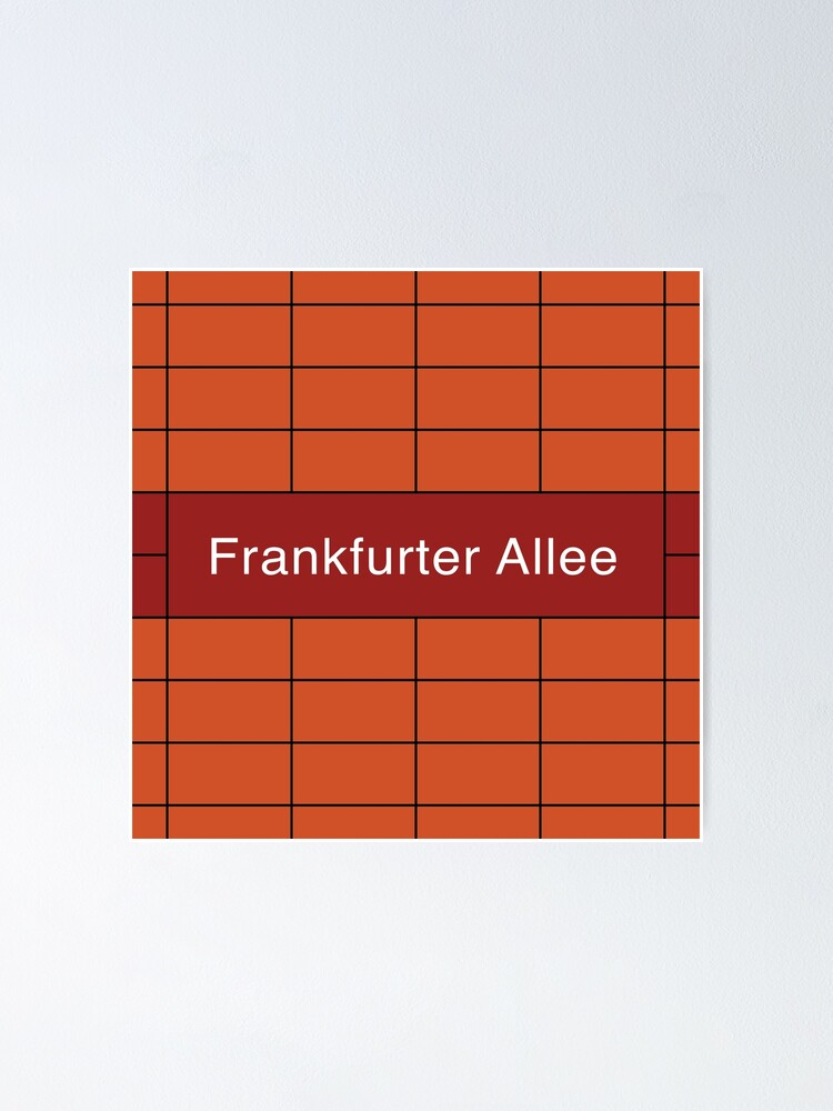 Alternate view of Frankfurter Allee Station Tiles (Berlin) Poster