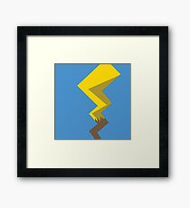 Minimalist Pikachu Tail Framed Print