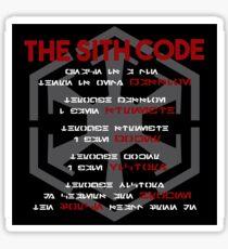 The Sith Code  Sticker