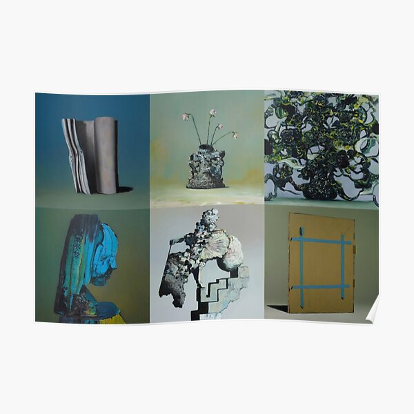 Everywhere at the End of Time by the Caretaker Album Cover Art Collection by Ivan Seal Poster