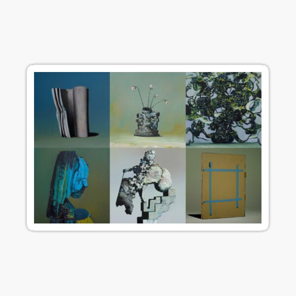 Everywhere at the End of Time by the Caretaker Album Cover Art Collection by Ivan Seal Sticker
