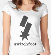 """Switchfoot """"S"""" Logo (Gray) Women's Fitted Scoop T-Shirt"""