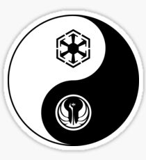 Ying and Yang, The Republic and the Empire Sticker