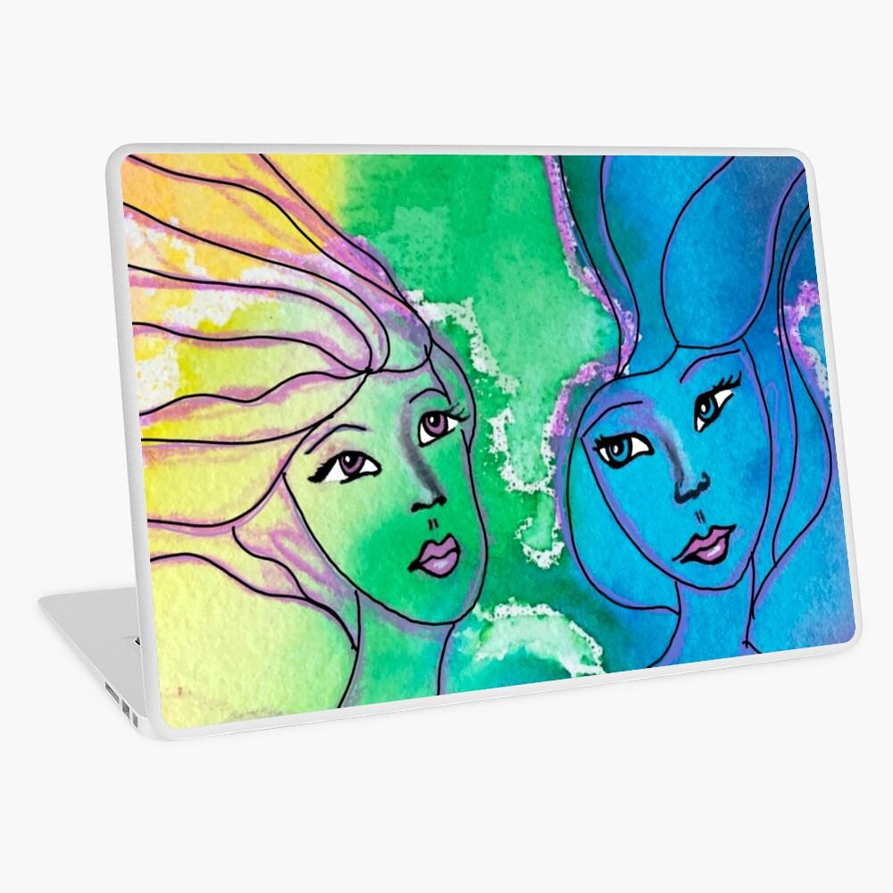 Sisters Water color Laptop Skin