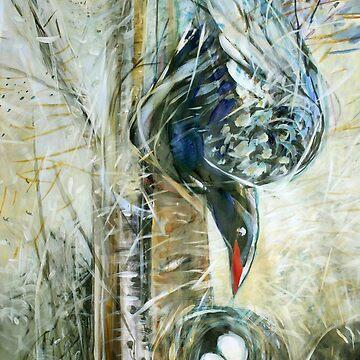 Bird and Nest by DiamondCrusade