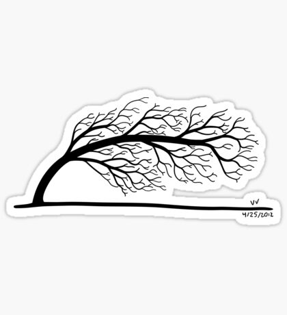 Windblown Tree Sticker
