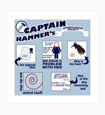 Captain Hammer's Appreciation Society Art Print