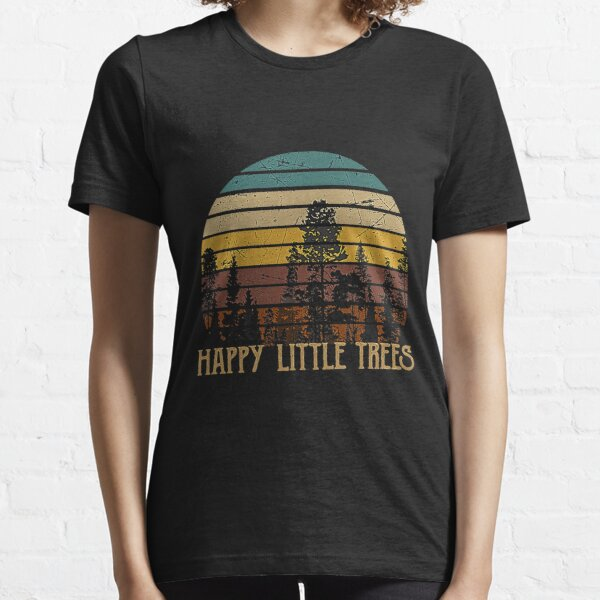 Happy Little Tree Retro Bob tshirt Ross Christmas Gifts Xmas T-Shirt Essential T-Shirt