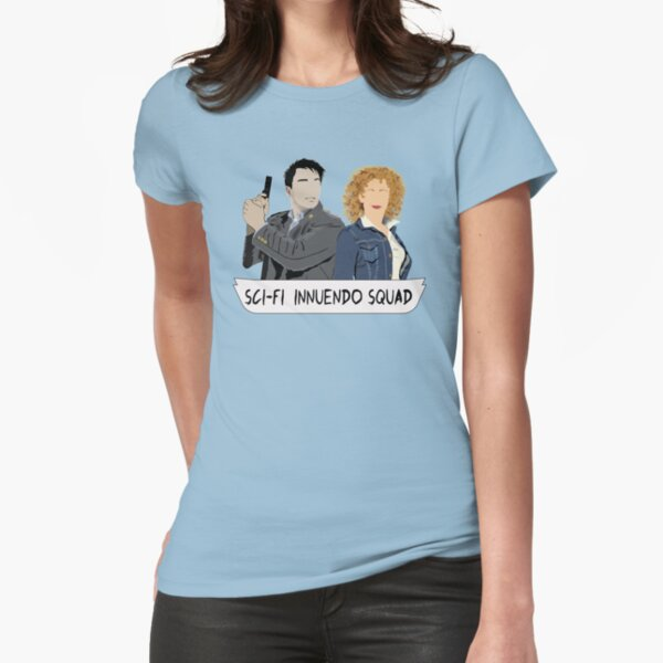 Sci-fi Innuendo Squad Fitted T-Shirt