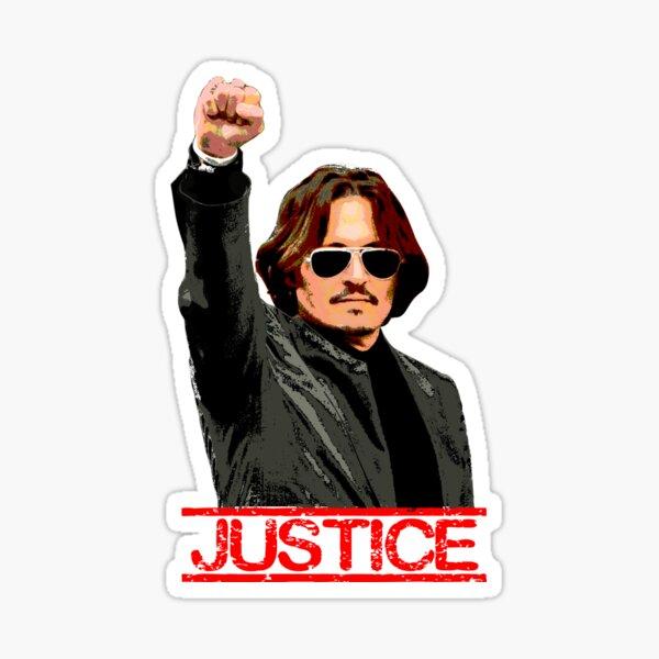 JUSTICE for Johnny Depp Sticker