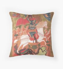 Saint George and the Dragon Throw Pillow