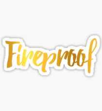 Fireproof One Direction Song Sticker