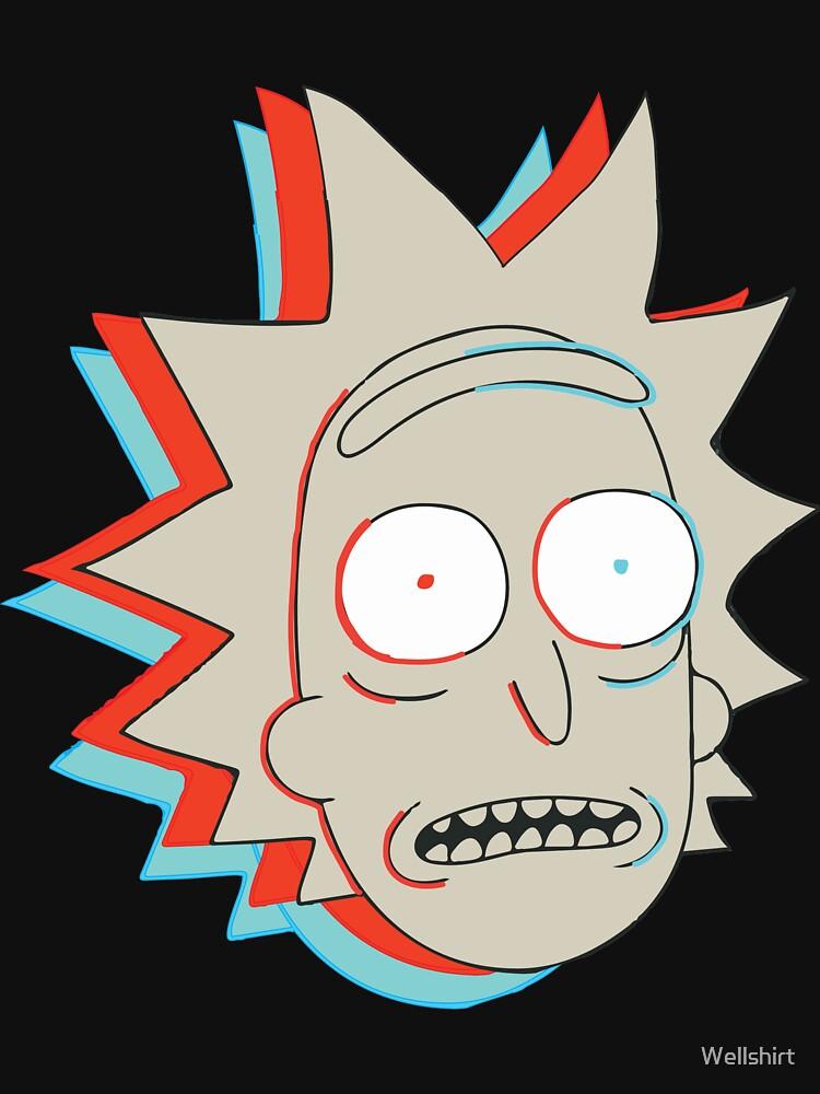 TShirtGifter presents: Rick and Morty: 3D Rick | Unisex T-Shirt