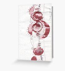 Cool Flowers Design Pattern Cute Simple Greeting Card