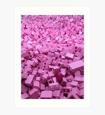 Pink legos Art Print