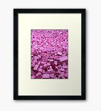 Pink legos Framed Print