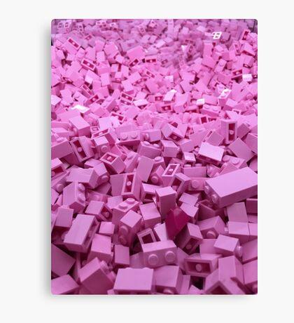 Pink legos Canvas Print
