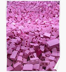 Pink legos Poster
