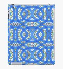 Vitrail bleu iPad Case/Skin
