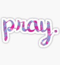 pray. Sticker