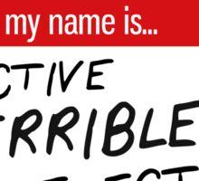 Detective Terrible Detective Sticker