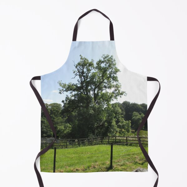 Merch #107 -- Tall Central Tree (Hadrian's Wall) Apron