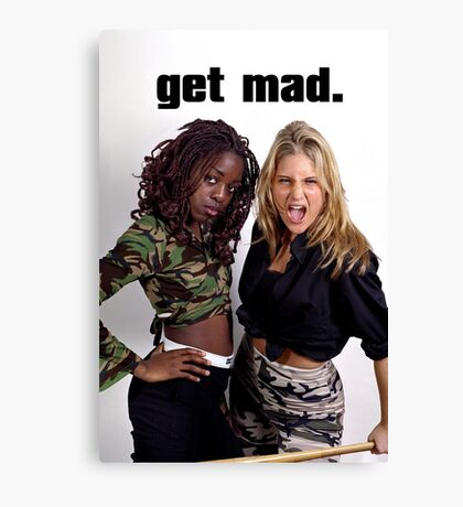 Get Mad Canvas Print