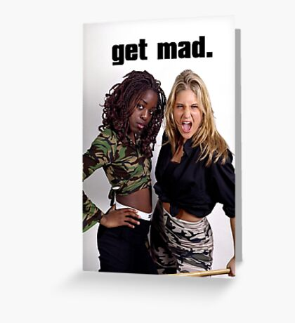 Get Mad Greeting Card
