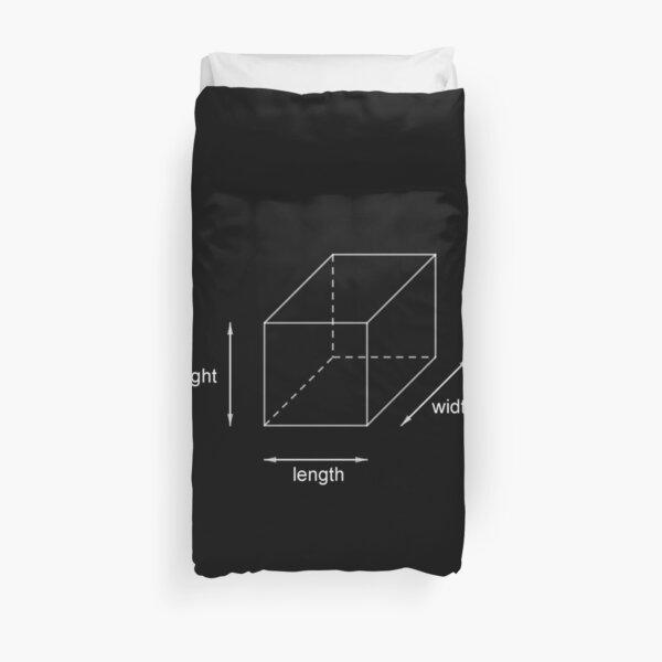 Height - Length - Width Duvet Cover