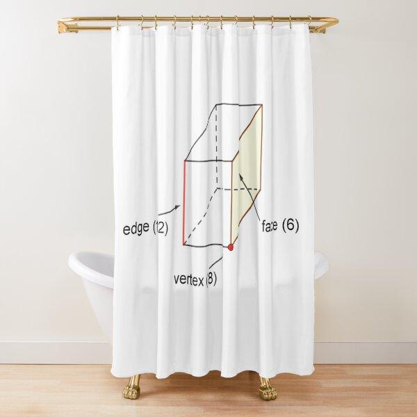 Edge - Vertex - Face Shower Curtain