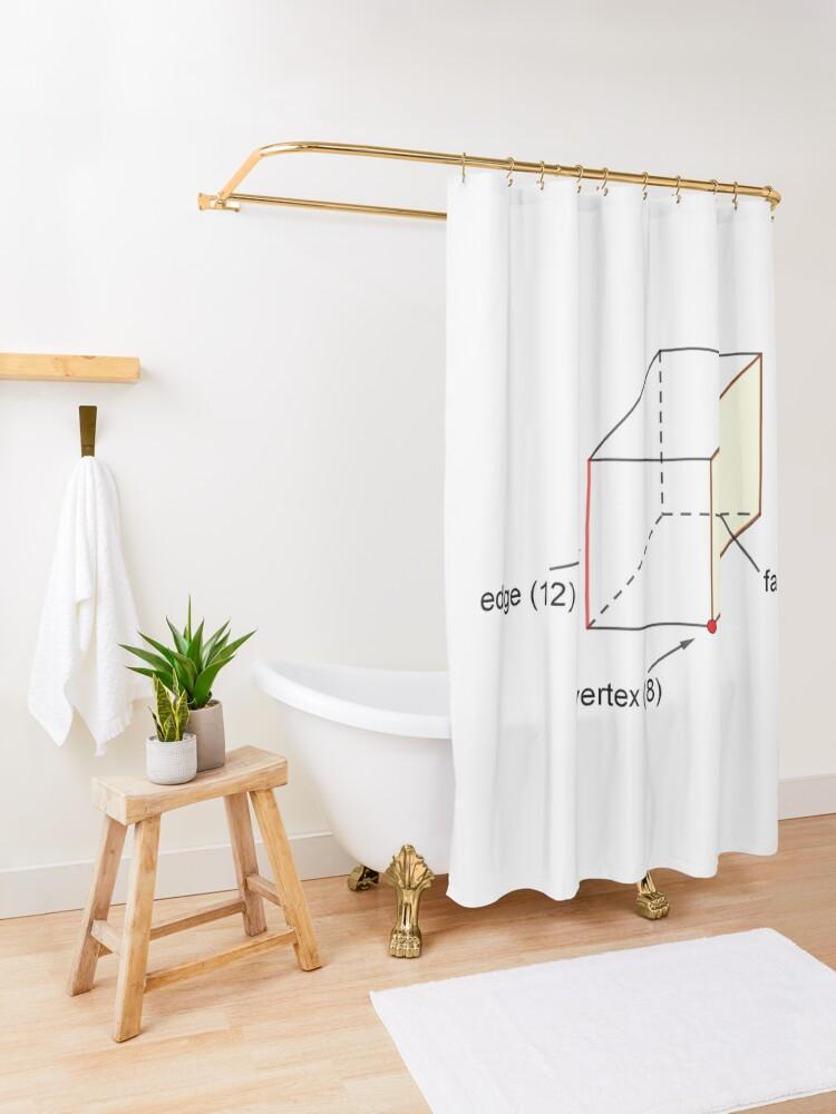 Alternate view of Edge - Vertex - Face Shower Curtain