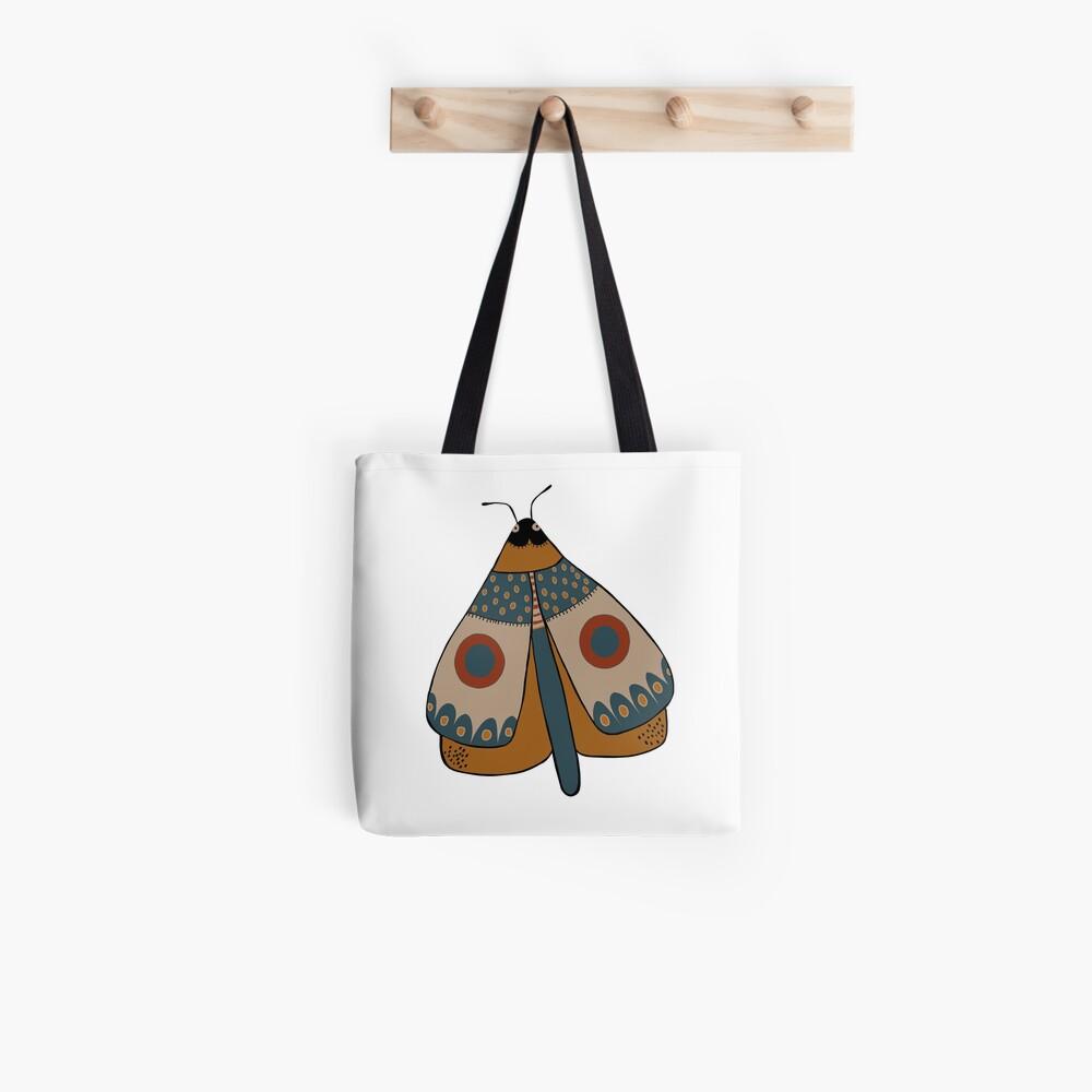 colorful moth digital drawing Tote Bag