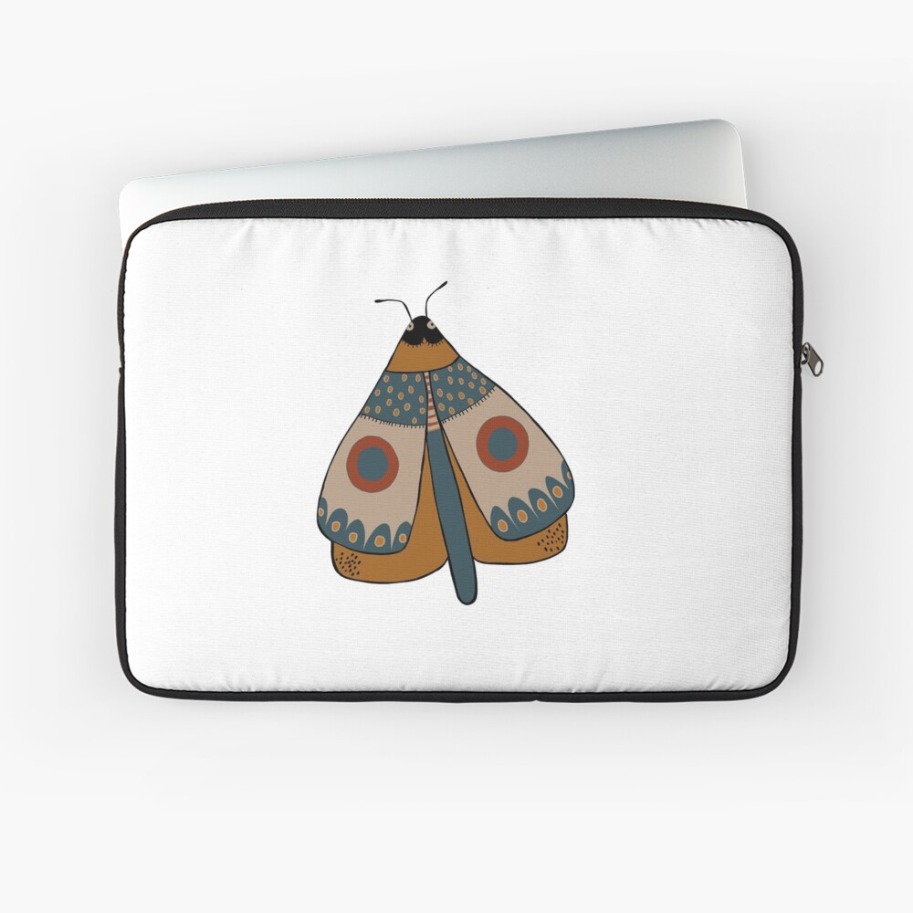 colorful moth digital drawing Laptop Sleeve