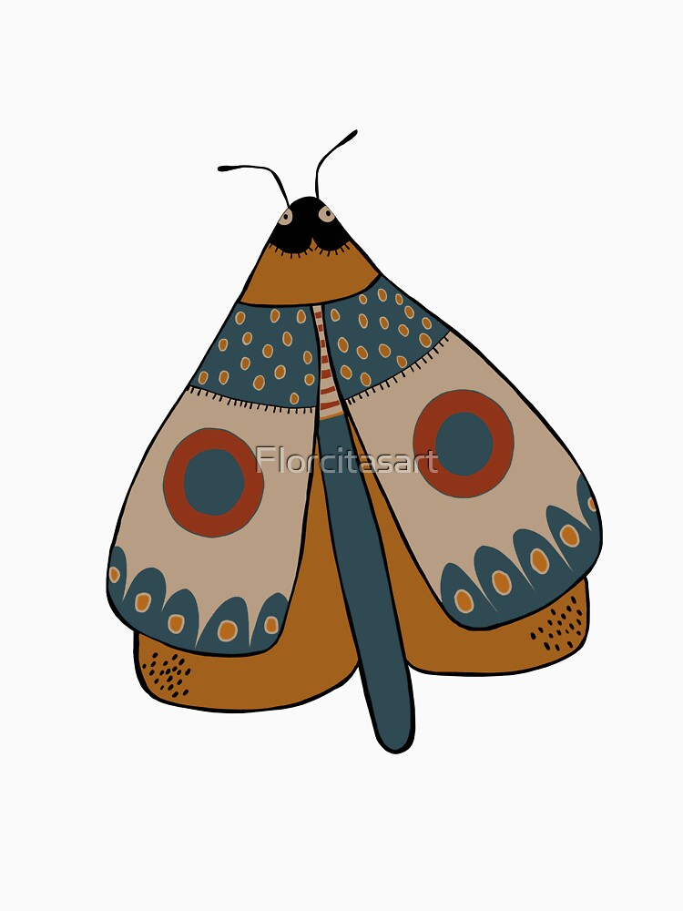 colorful moth digital drawing by Florcitasart